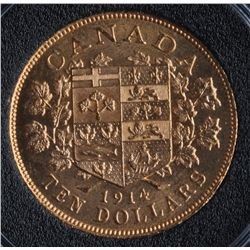 1914 Canadian Ten Dollar Gold