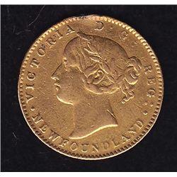 1865 Newfoundland $2 Gold