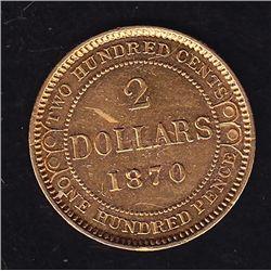 1870 Newfoundland $2 Gold