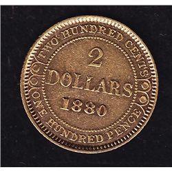 1880 Newfoundland $2 Gold