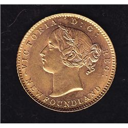 1881 Newfoundland $2 Gold
