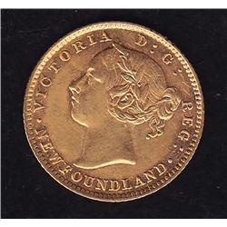 1882 Newfoundland $2 Gold