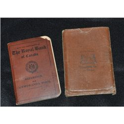 Lot of 2 Bank Passbooks