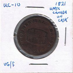 1821 Upper Canada on Cask. Br728