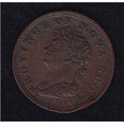 1823 Province of Nova Scotia Half Penny Token