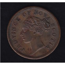 1840 Province of Nova Scotia One Penny Token
