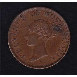 1843 Province of Nova Scotia Half Penny Token