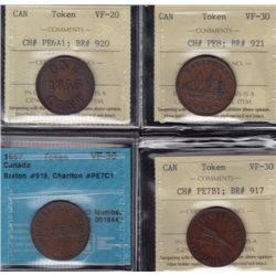 Lot of 4 Graded Tokens