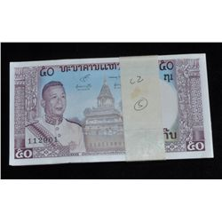Laos Original Brick of 100 Banknotes