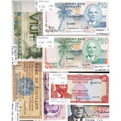 Lot of 16 Assorted World Banknotes