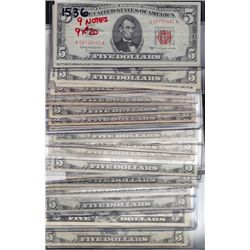 Lot of 34 USA $5 FRN's