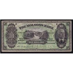 1916 Molsons Bank $10
