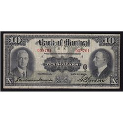 1931 Bank of Montreal $10