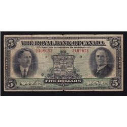 1927 Royal Bank of Canada $5