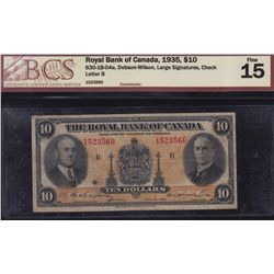 1935 Royal Bank of Canada $10