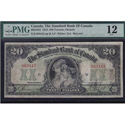 1919 Standard Bank of Canada $20