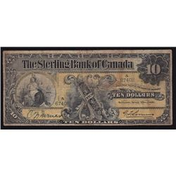 1906 Sterling Bank of Canada $10
