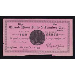 Grand River, Newfoundland Pulp & Lumber Company 10 Cent