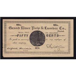Grand River, Newfoundland Pulp & Lumber Company 50 Cent