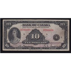 1935 Bank of Canada $10