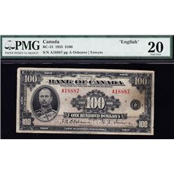 1935 Bank of Canada $100