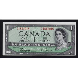 1954 Bank of Canada $1 Devil's Face