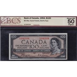 1954 Bank of Canada $100 Devil's Face