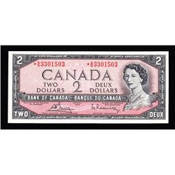 1954 Bank of Canada $2 Replacement Note