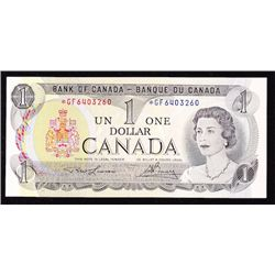 1973 Bank of Canada $1 Replacement Note