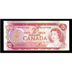 1974 Bank of Canada $2 Test Note