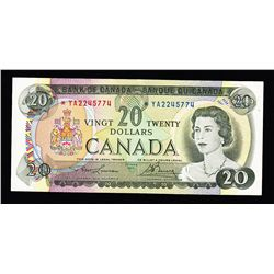 1969 Bank of Canada $20 Replacement Note