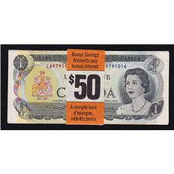 Set of Bank of Canada Multicolored Banknotes Issued by The Royal Bank
