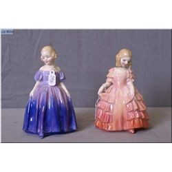 "Two small Royal Doulton figurines including ""Rose"" HN1268 and ""Marie"" HN1370"