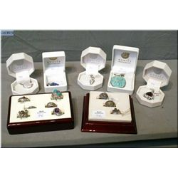 A selection of brand new sterling silver and gemstone pendants, some retailing over $300 plus sterli