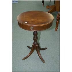 A mid 20th century single pedestal, single drawer occasional table