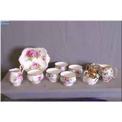 "A selection of china collectibles including Royal Winton ""Old Cottage Chintz"" lidded sugar and cream"