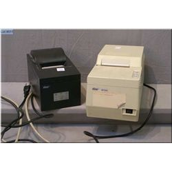 Two retail point of sale printers