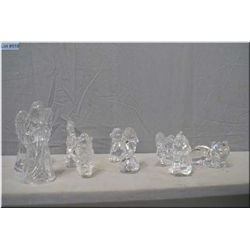A selection of Princess House crystal paperweights