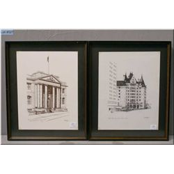 """Two framed Weber prints including """"The Old Court House, Edmonton"""" 1979 and """"The MacDonald, Edmonton"""""""