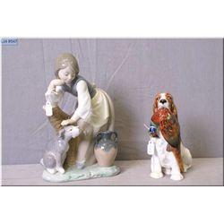Lladro figurine and Royal Doulton Spaniel  HN1028