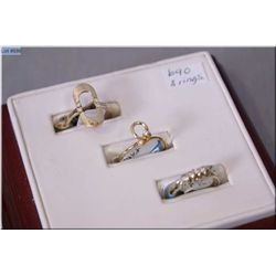 Three ladies yellow gold and diamond rings including 14kt ring set with four 0.09ct diamonds, 14kt r