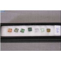 A selection of emerald cut loose gemstones