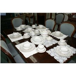 """A dinner service for seven of Tuscan """"Imperial"""" dinnerware including dinnerplates, side plates, brea"""