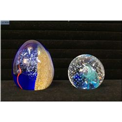 """Two Scottish Caithness glass paperweights including """"Abseil"""" and """"Reflections 1993"""""""