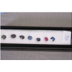 A mixed selection of gemstones including squares, ovals, pear shaped etc.