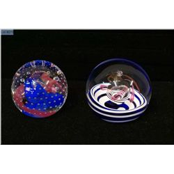"""Two Scottish Caithness glass paperweights including """"Serpentine"""" and """" Reflections 1995"""""""