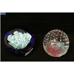 """Two Scottish Caithness glass paperweights including """"Floral Illusion No.57"""" and """"Reflections 1991"""""""