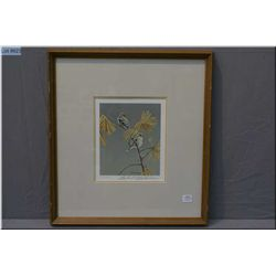 """Framed limited edition Robert Bateman print """"American Goldfinch-Winter Dress"""" 380/950 signed in penc"""