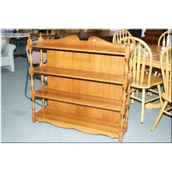 Four tier open maple display shelf