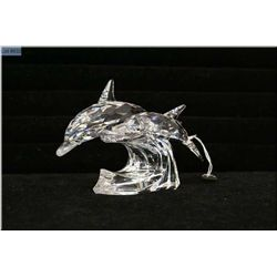 """Swarovski Collector's Society annual edition 1990 """"Lead Me, The Dolphins"""""""